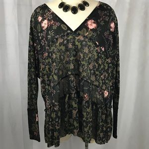 Free People Floral Boho Blouse